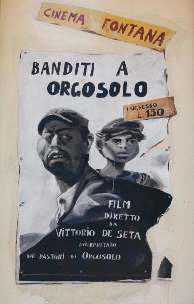 Movie poster mural, Orgosolo