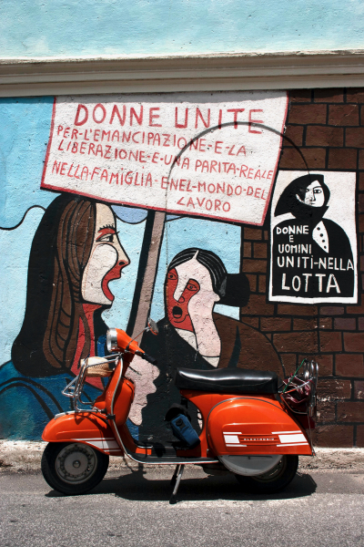 A mural for women's rights, Orgosolo