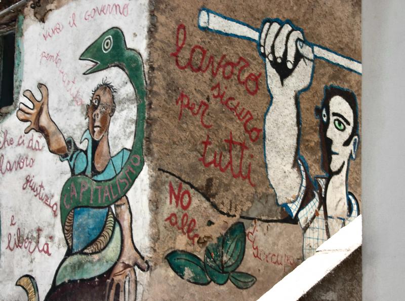 Worker mural, Orgosola