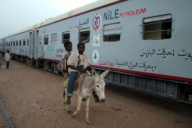 train_donkey_sunset