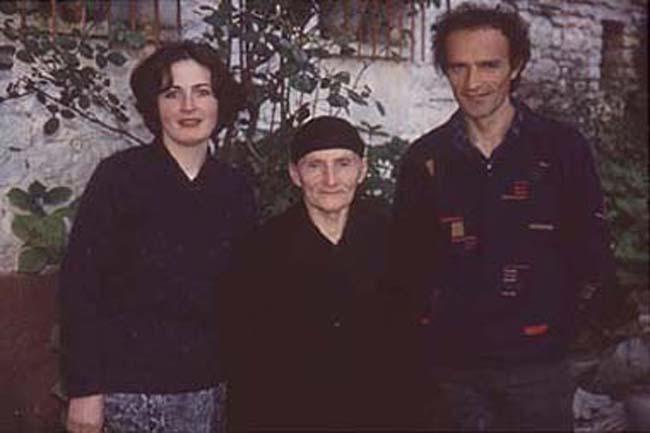 Berta, Skender and grandma in Gjirokastër, Albania
