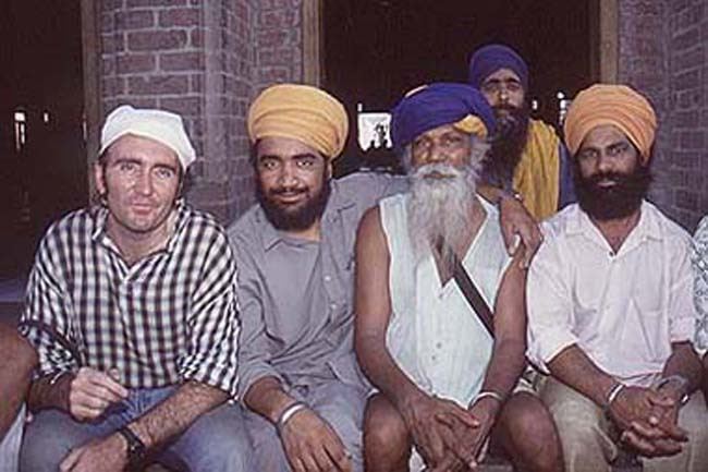 My Sikh friends at the Golden Temple in Amritsar