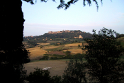 The view of Montepulciano from our window