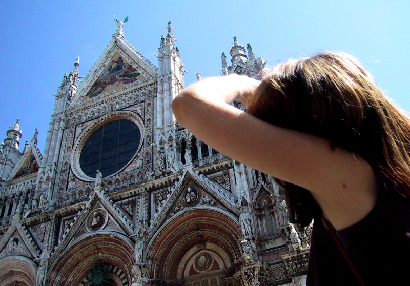 Sally checks out Siena cathedral