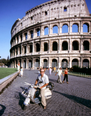 The Colosseum, marking the end point of an extraordinary trip