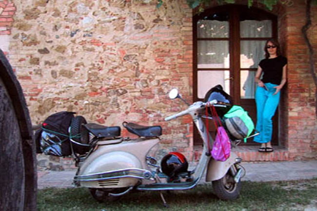 Sally and Sophia in Montepulciano